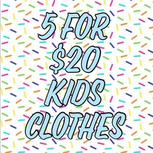 🎉 5 For $20 Kids Clothes 🎉
